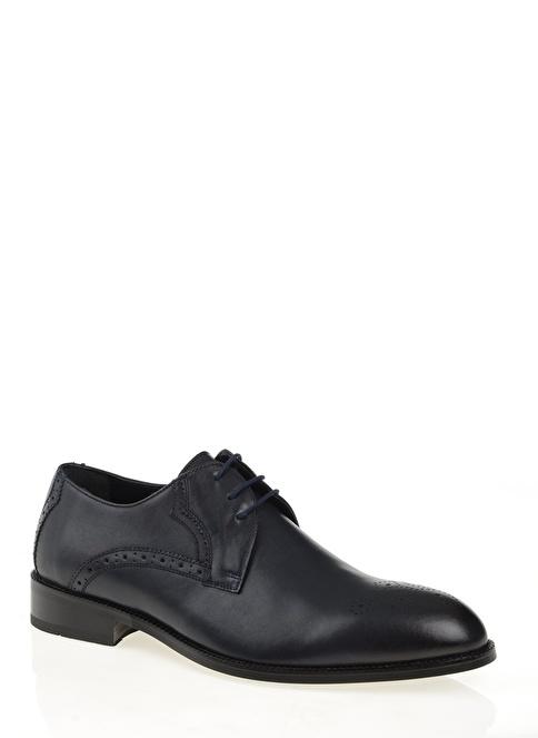 D by Divarese % 100 Deri Klasik Ayakkabı Lacivert